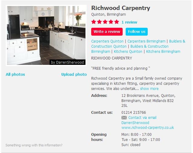 Reviews for Richwood Carpentry